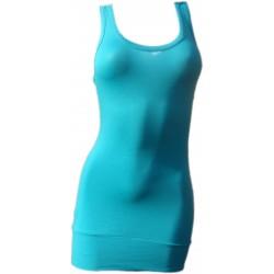 Débardeur Long femme Bleu turquoise