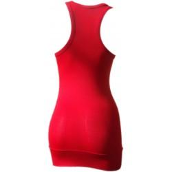 Débardeur Long femme rouge