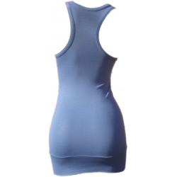 Débardeur Long femme Bleu guède