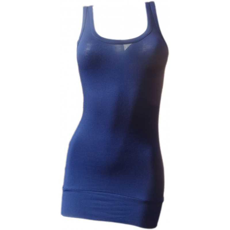 Débardeur Long femme Bleu de minuit