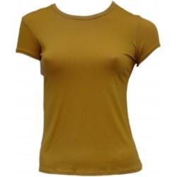Tee Shirt Jaune Ocre femme