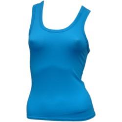 Débardeur Court femme Bleu Turquoise