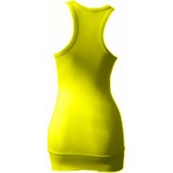 Débardeur Long femme jaune or