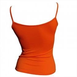 Débardeur-fine-bretelle-Orange